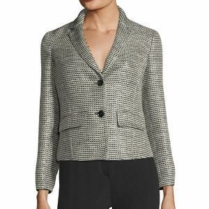 Emporio Armani Two Button Tweed Jacket Sz 42